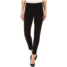 HUE Piped Polished Twill Skimmer Leggings (Black XS)