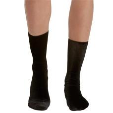 HUE Velvet Socks (Black, 9-11)