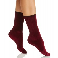 HUE Velvet Socks (Currant)