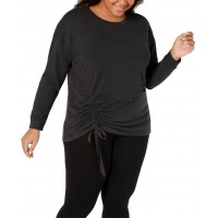 Ideology Women's Plus Size Ruched-Side Blouse Pullover Shirt Tops