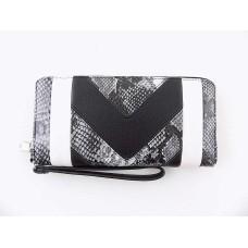 INC International Concepts Averry Zip-around Wallet (Black Multi/Silver)