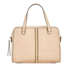 INC International Concepts Faany Pyramid-Studded Satchel (Beige, One Size)