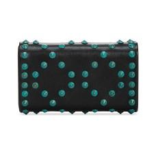 INC International Concepts Flaviee Stud Mini Clutch – Black Turquoise