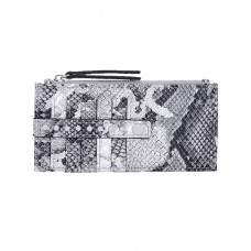 INC International Concepts Glam Metallic Python-Embossed Card Case (Gray)