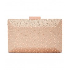 INC International Concepts Jessaca Stone Box Clutch (Rose Gold)