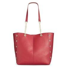 INC International Concepts Korra Small Shopper Handbag Tote Red