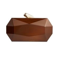 INC International Concepts Nichole Lucite Clutch (Beige/Khaki)