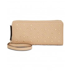INC International Concepts Quiin Zip-Around Wristlet Wallet (Beige, One Size)