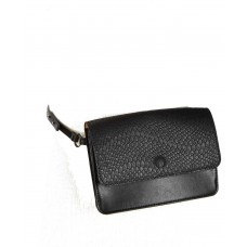 INC International Concepts Smooth & Python-Embossed Fanny Pack (Black, S)