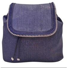 INC International Concepts Womens Bailie Metallic Twill Backpack Blue O/S