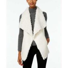 INC International Concepts Women's Faux Sherpa Reversible Vests