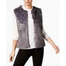 INC International Concepts Women's Knit & Faux Fur Vest (Grey, S/M)