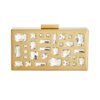 INC International Concepts Women's Marisoll Embellished Mini Box Clutchs, Gold, Small