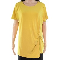 INC International Concepts Women's Plus Size Twisted Asymmetrical Pullover Blouse Tops