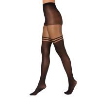 INC International Concepts Women's Striped Mock Thigh-High Tights