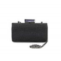 Jessica McClintock Womens Christiana Ball Mesh Minaudiere Handbag (Black , One Size)