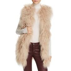 Jocelyn Tibetan Lamb Fur Vest (Brown, M)