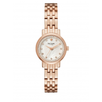 Kate Spade New York Mini Monterey Rose Goldtone Stainless Steel Five-Link Bracelet Watch (One Size, Rose Gold)