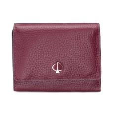 Kate Spade New York Polly Trifold Leather Wallet Handbag (Cherrywood)