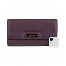 Kenneth Cole Reaction Never Let Go Trifold Flap Clut (Blackberry, One Size)