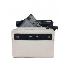 Kenneth Cole Reaction Strap Wallet With Battery Charger Vanilla/Black RFID blocking