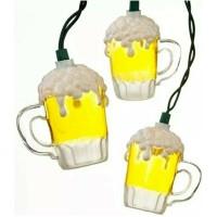 Kurt Adler UL0565 Beer Mug Light Set, 10 Light