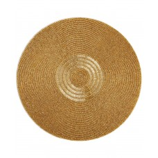 Leila's Linens Beaded Mat, Gold
