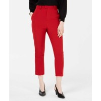 Line & Dot Rosey High-Rise Pants (Red, Large)