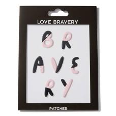 Love Bravery Patch Stickers – Pink Black