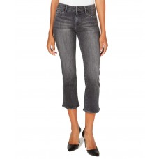 M1858 Lucy Mid-Rise Cropped Flared Jeans (Black)