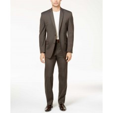 Marc New York by Andrew Marc Men's Classic-Fit  Pinstripe Suit (Brown, 44)
