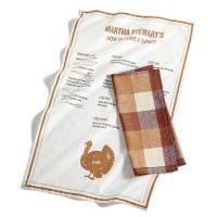 Martha Stewart Collection 2-Pc. Cotton Butcher Block Kitchen Towel Set