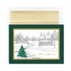 Masterpiece Studios Holiday Collection 16 Cards /16 Foil Lined Envelopes (Winter Scene)