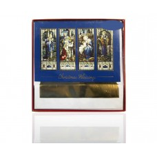 Masterpiece Studios Holiday Collection Christmas Blessings 16 Greeting Cards & Envelopes, Stain Glass