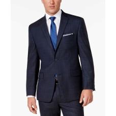Michael Kors Men's Classic-Fit Bold Plaid Suit (Blue, 40 REG 33W)