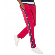 Michael Kors Men's Scuba Stripe Side-Snap Track Pants (Bright Red, S)