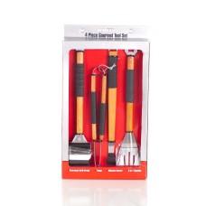 Mr. Bar-B-Q 4 Piece Gourmet Finger Grip Grilling Tool Set