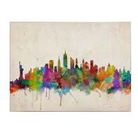 New York Skyline  by Michael Tompsett, 22 by 32-Inch Canvas Wall Art
