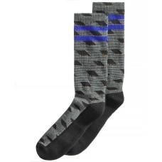 Perry Ellis Men's Casletic Printed Socks (Black, 7-12)