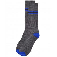 Perry Ellis Men's Striped Socks (Black/Blue, One Size)