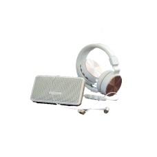 Polaroid Wireless Audio Kit Bluetooth Headphones, Bluetooth Earbuds, Bluetooth Speaker (White)