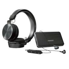 Polaroid Wireless Audio Kit Bluetooth Headphones, Bluetooth Speaker Set (Black)