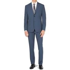 Premium Men's Regular Suit 2 Piece Tech Two Button (Slate Gray, Large)