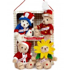 R.H. Macy's Band of Bears Blossom, Happy, Twinkle, Boom Gift Set