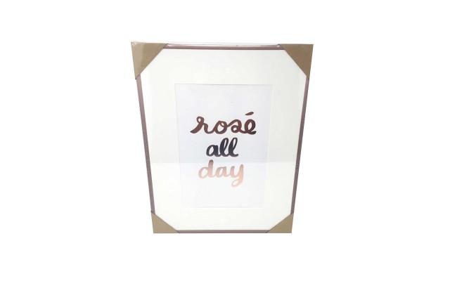 'Rose All Day' Framed Print 14×18 (Rose all day)