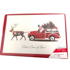Santa's Comin' to town! Christmas Boxed Cards, 14 Count