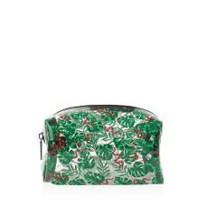 Skinnydip London Snake & Palm Print Cosmetics Bag (Multi/Green)