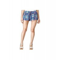 Stoosh Womens Printed Soft Casual Mini Shorts