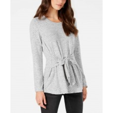 Style & Co Tie-Front Tunic (Gray, 2XL)