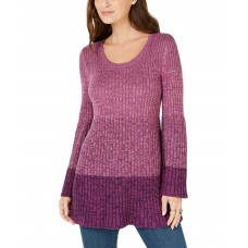Style & Co Women's Striped Bell-Sleeve Tunic